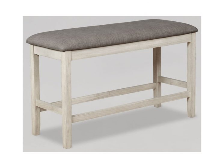 French Country Upholstered Bench | Restoration Hardware Upholstered Bench | Upholstered Counter Height Bench