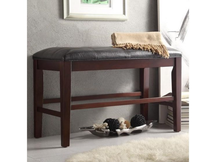 Upholstered Counter Height Bench | Ethan Allen Upholstered Bench | Tess Upholstered Bench