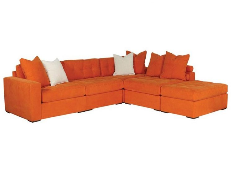 3 Piece Sofa | 3 Piece Brown Sectional | Sectional With Ottoman