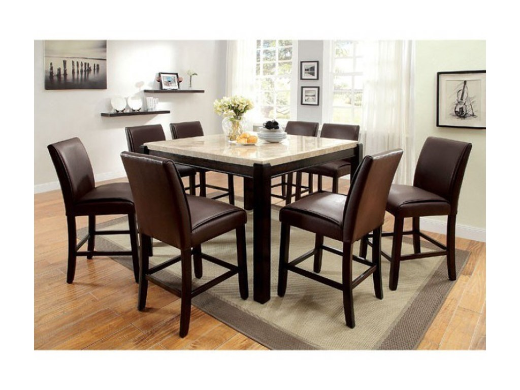 Contemporary Dinette Sets | 5 Piece Dining Set Black | 5 Piece Dining Set Round Table