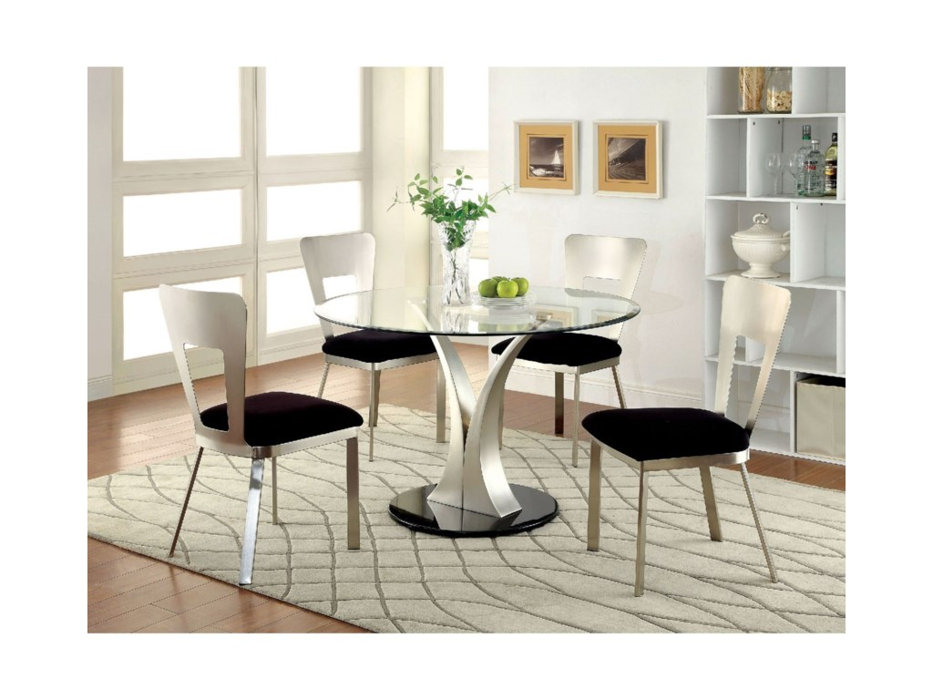 Contemporary Dinette Sets | Rooms To Go Round Dining Room Tables | 2 4 Seater Extendable Dining Table