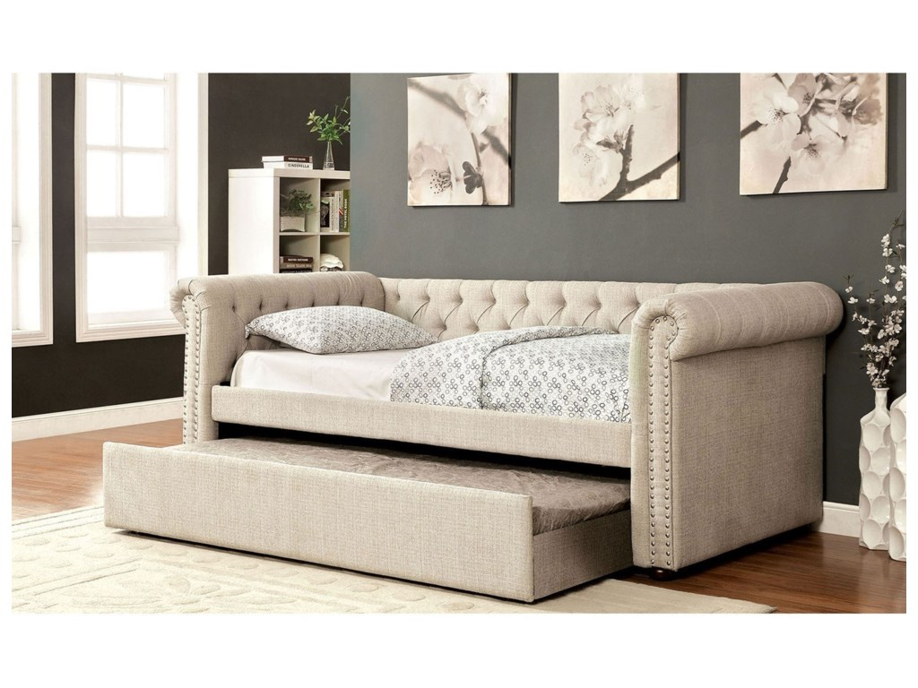 Extra Long Daybed With Trundle | Twin Size Daybed | Tufted Daybed Mattress