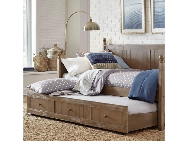 Fabric Daybed With Trundle | Upholstered Twin Daybed With Trundle | Daybed With Trundle And Storage
