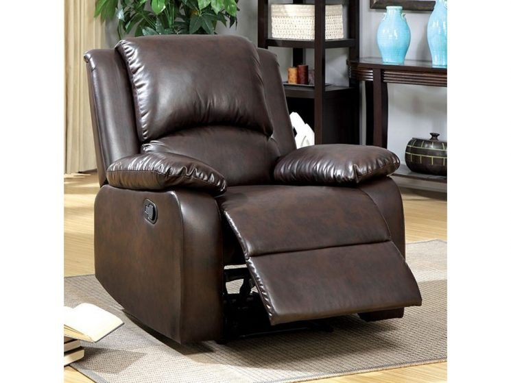 Oversized Manual Recliner | Faux Leather Recliner | Ashley Faux Leather Recliner