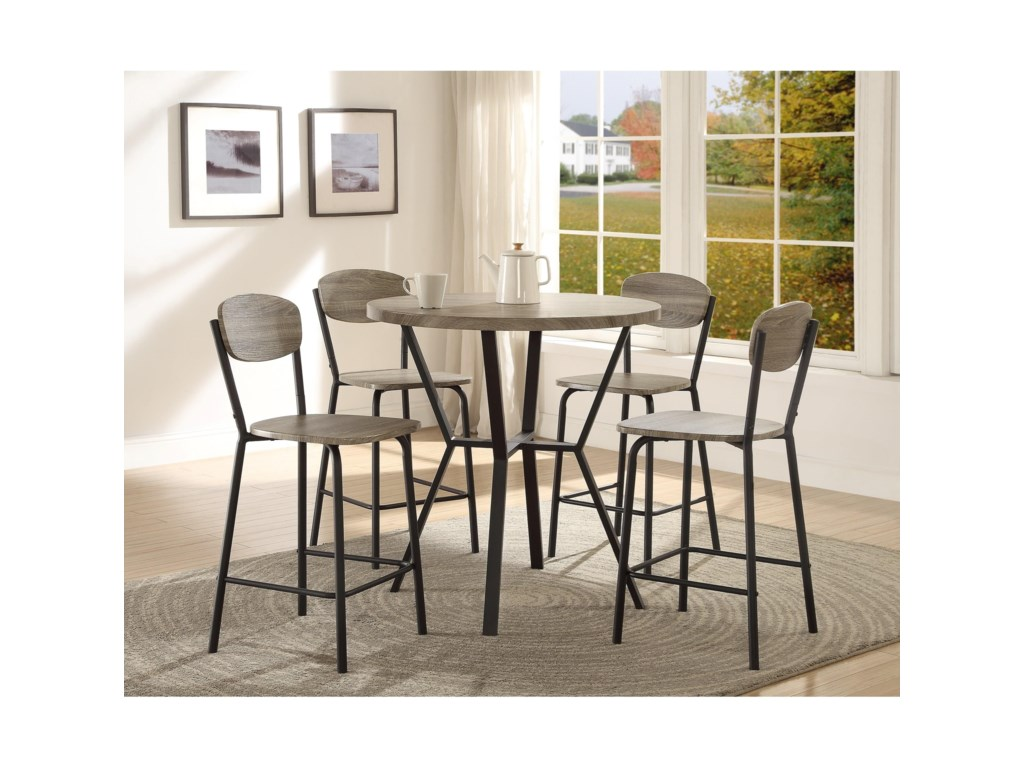 Comfortable and Stylish Finish of Contemporary Dinette Sets: Contemporary Dinette Sets | 36 Round Glass Top Dinette Sets | Amazon Prime Dining Table Sets